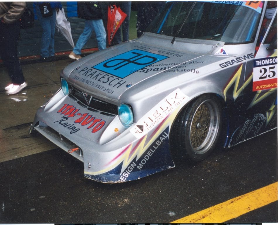 """Why do we need regulations? Here is a classic example of how things can get out of hand! Extended front bodywork seen on a Giulia saloon at Monza in 2000"" (Photo: Michael Lindsay)."