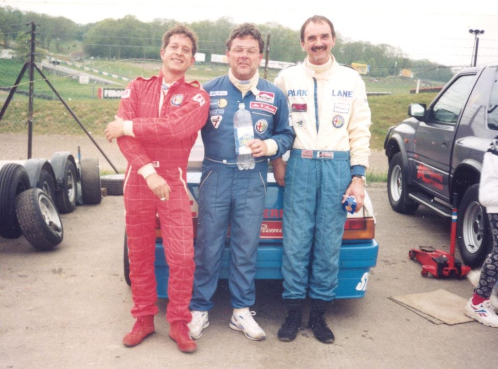 A group of Modified Alfa regulars around 1997 – Andy Steavenson, Alan Marshall and Nick Humphrey