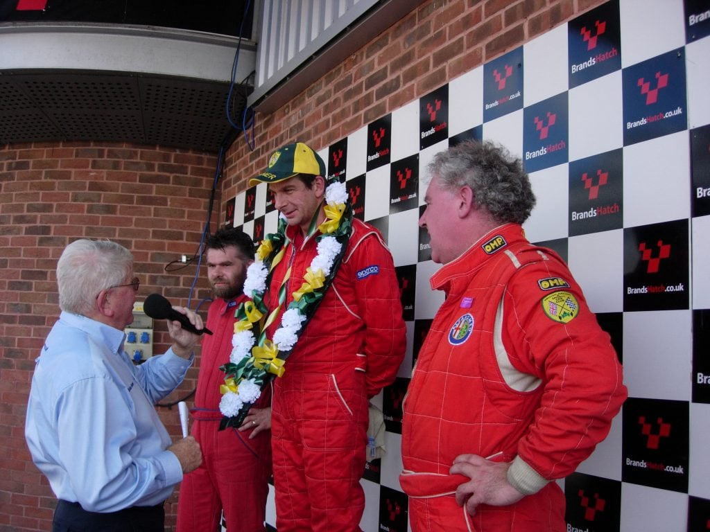 September 2002 with Winner Tim Lewis, 2nd Andy Page, 3rd Graham Presley. Brian Jones doing the interviews.